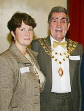 Crediton Mayor and Mayoress
